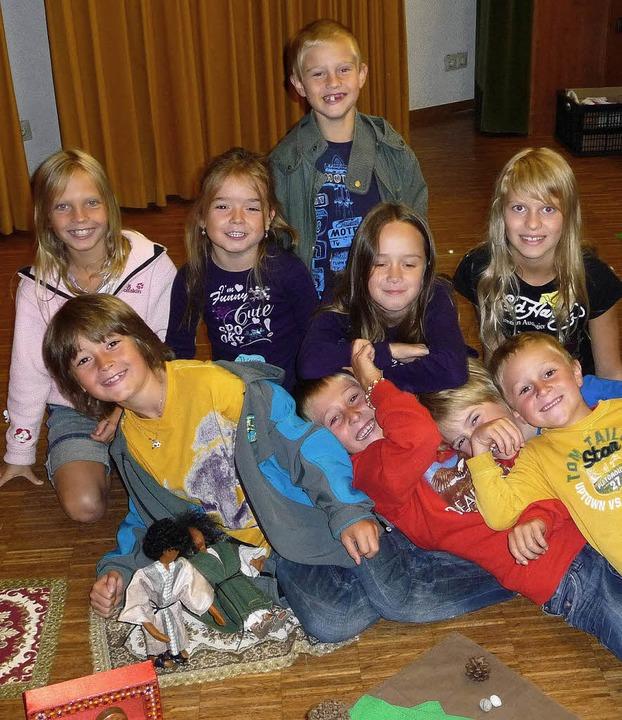 Einen lehrreichen und kurzweiligen Tag...n die Kinder beim Bibeltag in Görwihl.  | Foto: Saskia Baumgartner