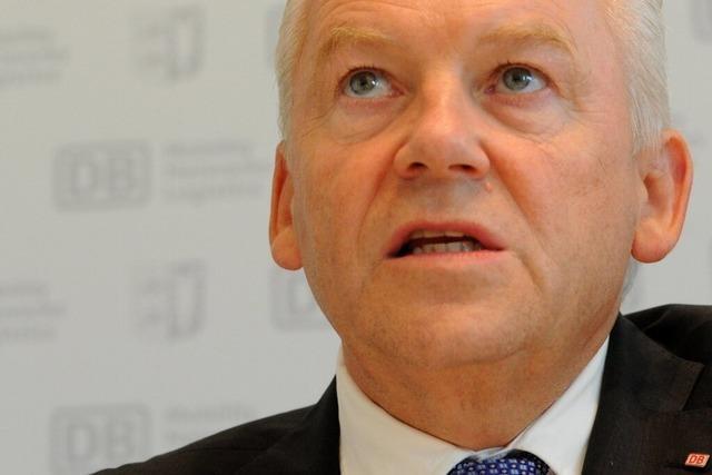 Rheintalstrecke: Bahnchef Grube macht unerwartete Zusagen