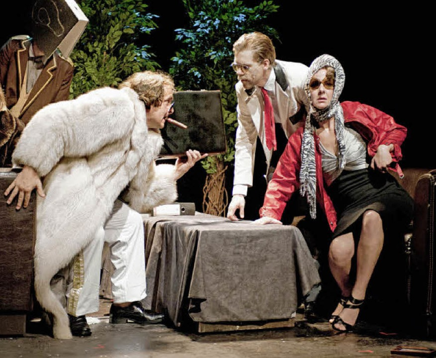 Theater Basel: Graf Öderland.Inga Eike... Martin Hug, Jan Viethen, Claudia Jahn    Foto: Judith Schlosser