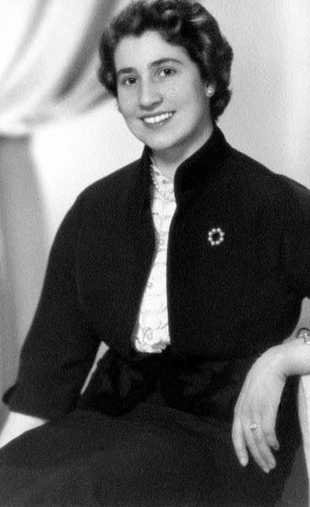 Zita Kaiser, Gründerin des Modehauses Kaiser in Freiburg, im Jahr 1954  | Foto: Privat
