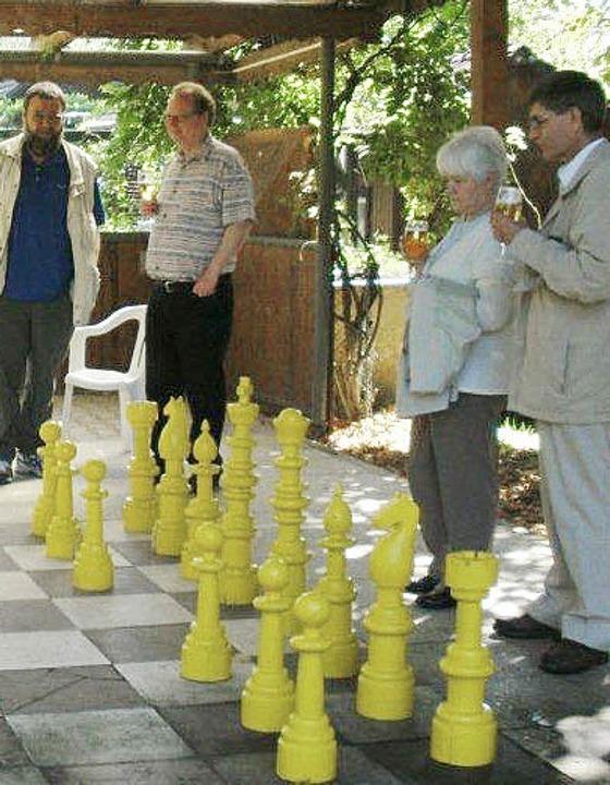 Zu Gast in Laufenburg: das  Ehepaar Da...es Schachclubs (von rechts nach links)  | Foto: Privat
