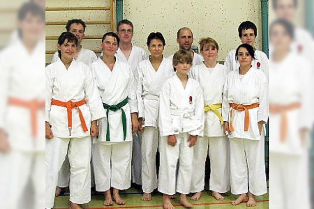 Karateka holen sich neue Gürtel