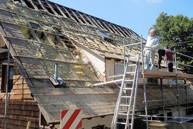 Gefragt sind Spender für die Dachsanierung