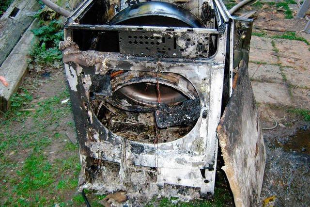 Wäschetrockner fängt an zu brennen