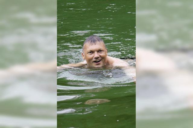 Gesagt ist gesagt: Schwimmen trotz kaltem Wetter