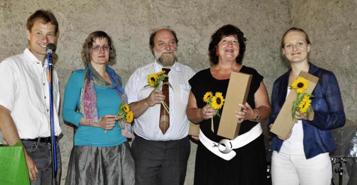 v.l. Frank Riepe, Silke Krebs, Henra Stoll, Bärbl Mielich und Franziska Brantner  | Foto: Birgit Lüttmann
