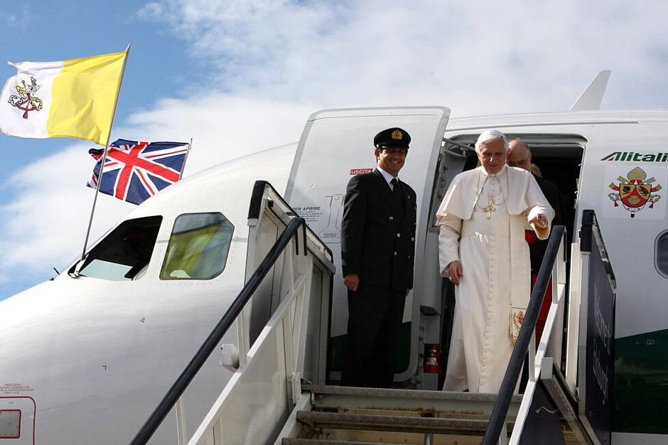 Der Papst bei seiner Ankunft in Edinburgh. (Foto: dpa)