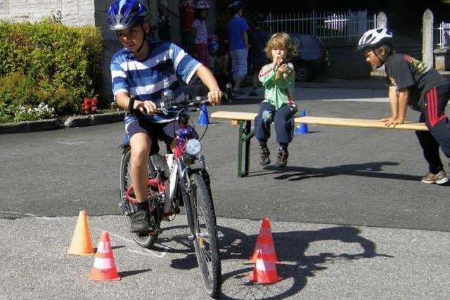 Parcours für junge Radler