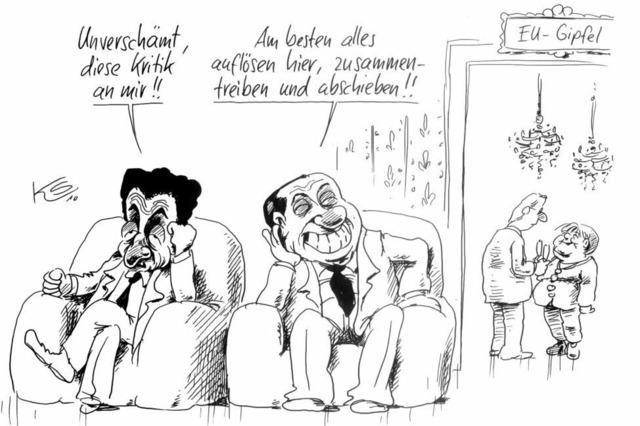 Nicolas Sarkozy und Silvio Berlusconi