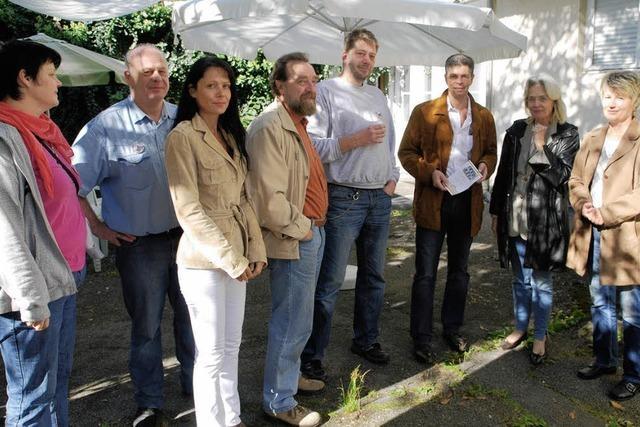 Lebhafte Diskussionen mit Bürgern ums Uehlin-Areal