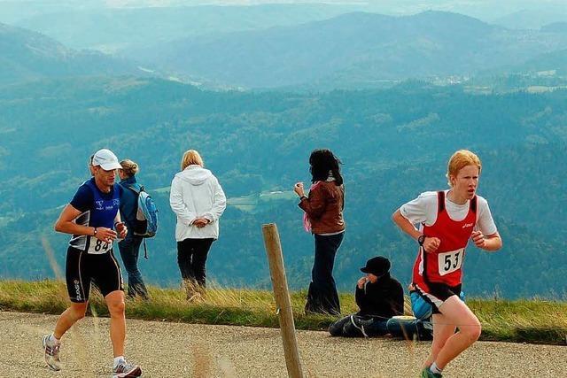 Heiße Läufer bei eisigem Belchenwind