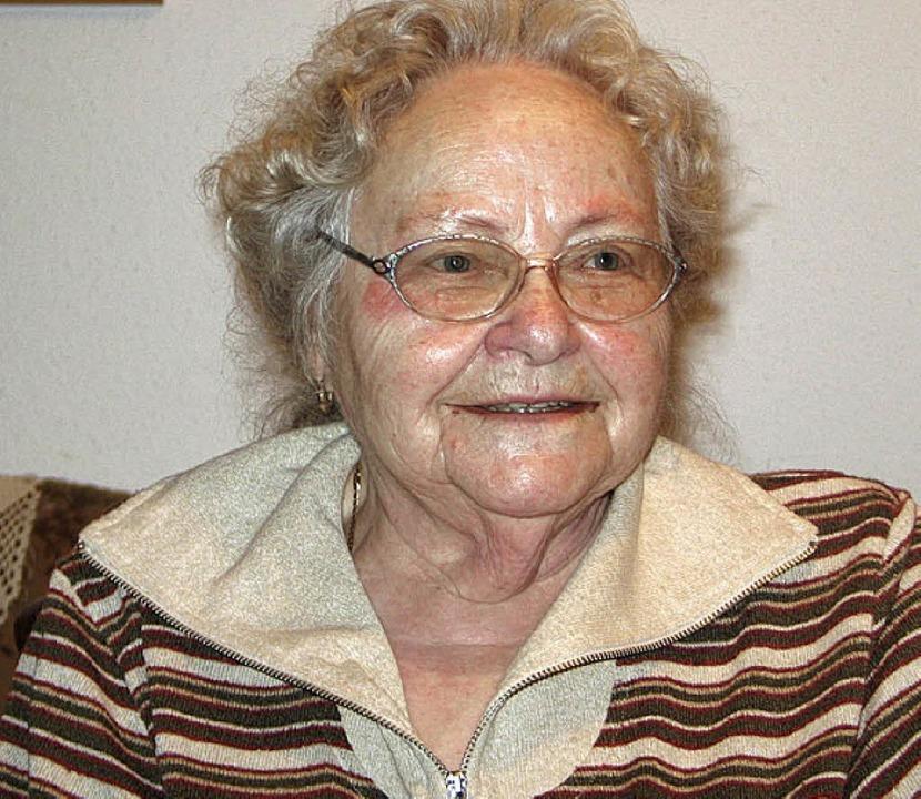 Die Heimatdichterin Ella Kostolich  is...e  im Alter von 87 Jahren verstorben.   | Foto: BZ