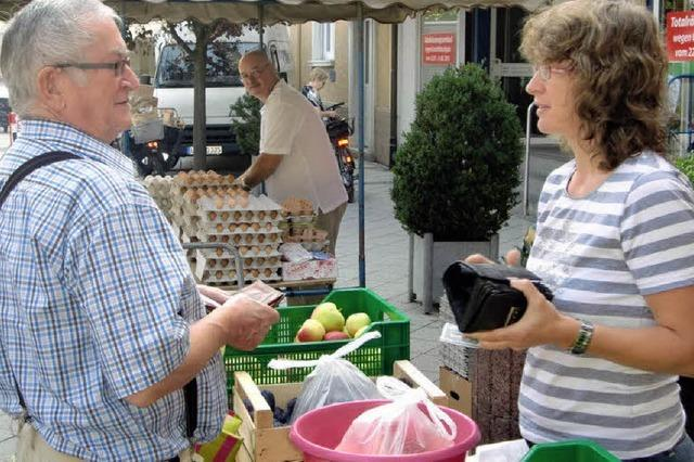 Marktverkäufer aus Hobby