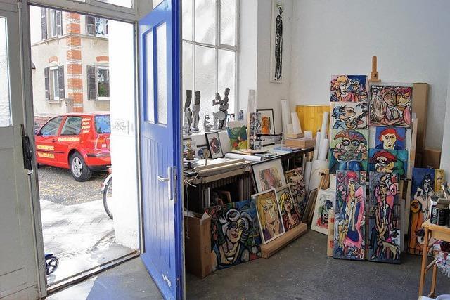 Wenn die Kunstfreunde in der Ateliertür stehen