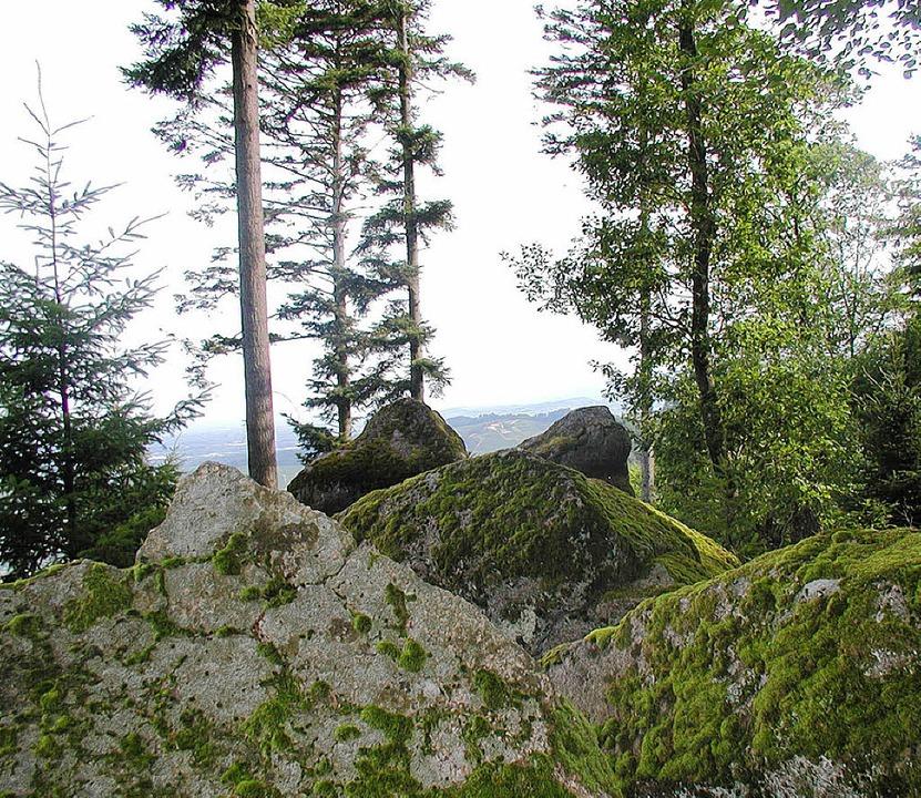 Malerische Felsformationen im Wald übe...acher Schloss  und die Engelskanzel...  | Foto: Hubert Wernet