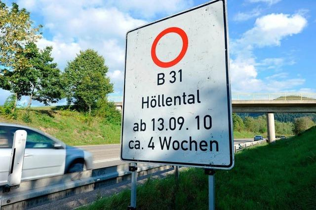 Höllental-Sperrung verringert Verkehr in Freiburg