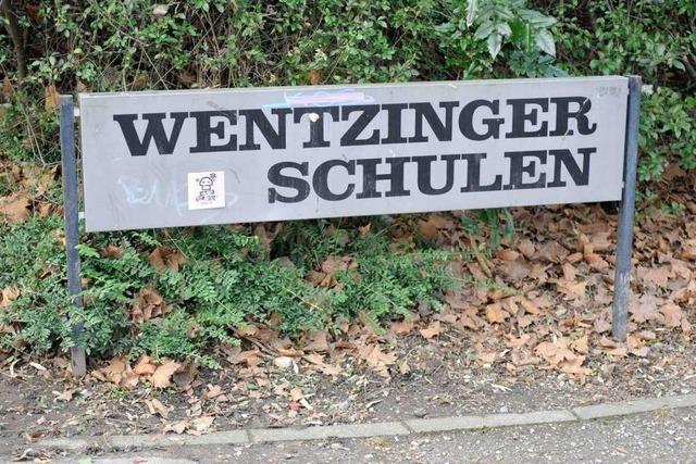 Stahlträger stürzt an Wentzinger-Schule ab – niemand verletzt