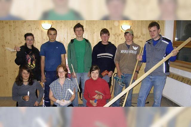 Die Jugend steckt viel Arbeit in den eigenen Raum