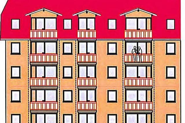 Apartmentblock statt kleiner Häuser