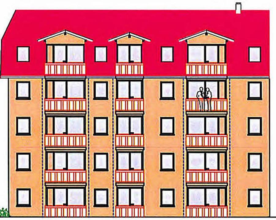 Der Neubau wird fünf Wohngeschosse umf...ro>Staub&amp;Partner</BZ-FotoNurRepro>  | Foto: privat