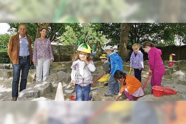 Sandspende für die Kinder