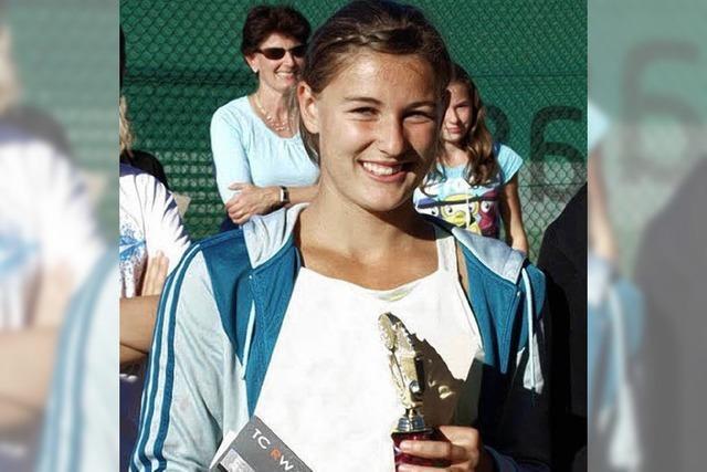 Erfolgreiche Nachwuchshoffnung des Tennisclubs