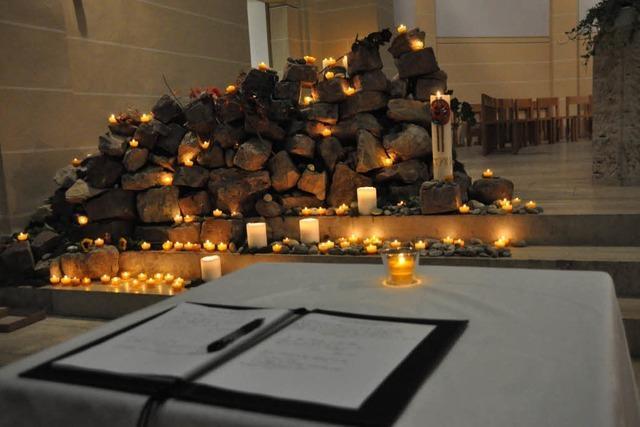 Lörracher gedenken der Opfer des Amoklaufs