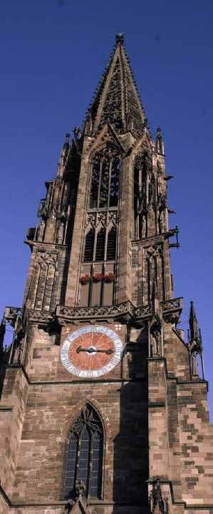 Überragend:  Der Turm, mit dem Oktogon überm Uhrengeschoss   | Foto: münsterbauhütte