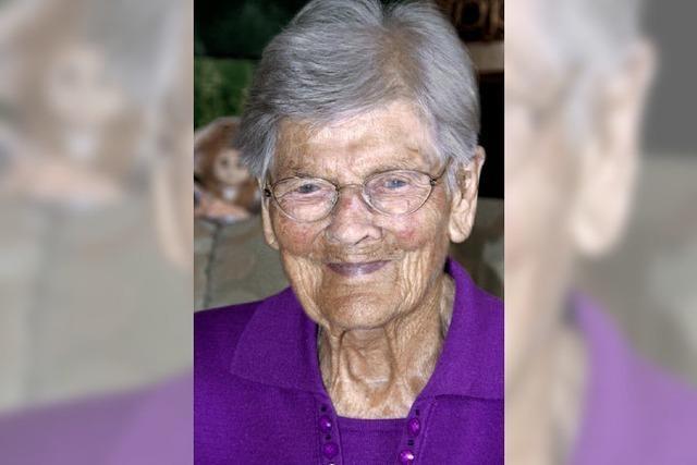 Maria Meyer wird heute in Grafenhausen 100 Jahre alt