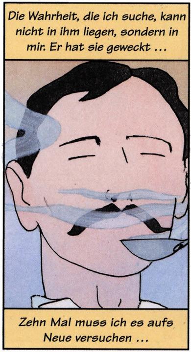 Prousts  berühmtes Madeleine-Erlebnis gezeichnet von Stéphane Heuet    Foto: -