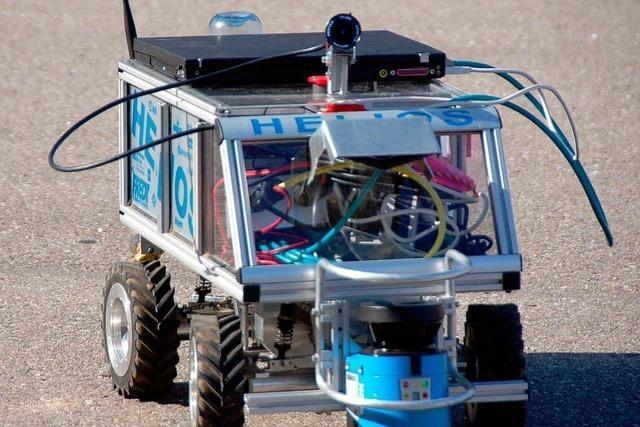 Roboter-Autos suchen ihr Ziel