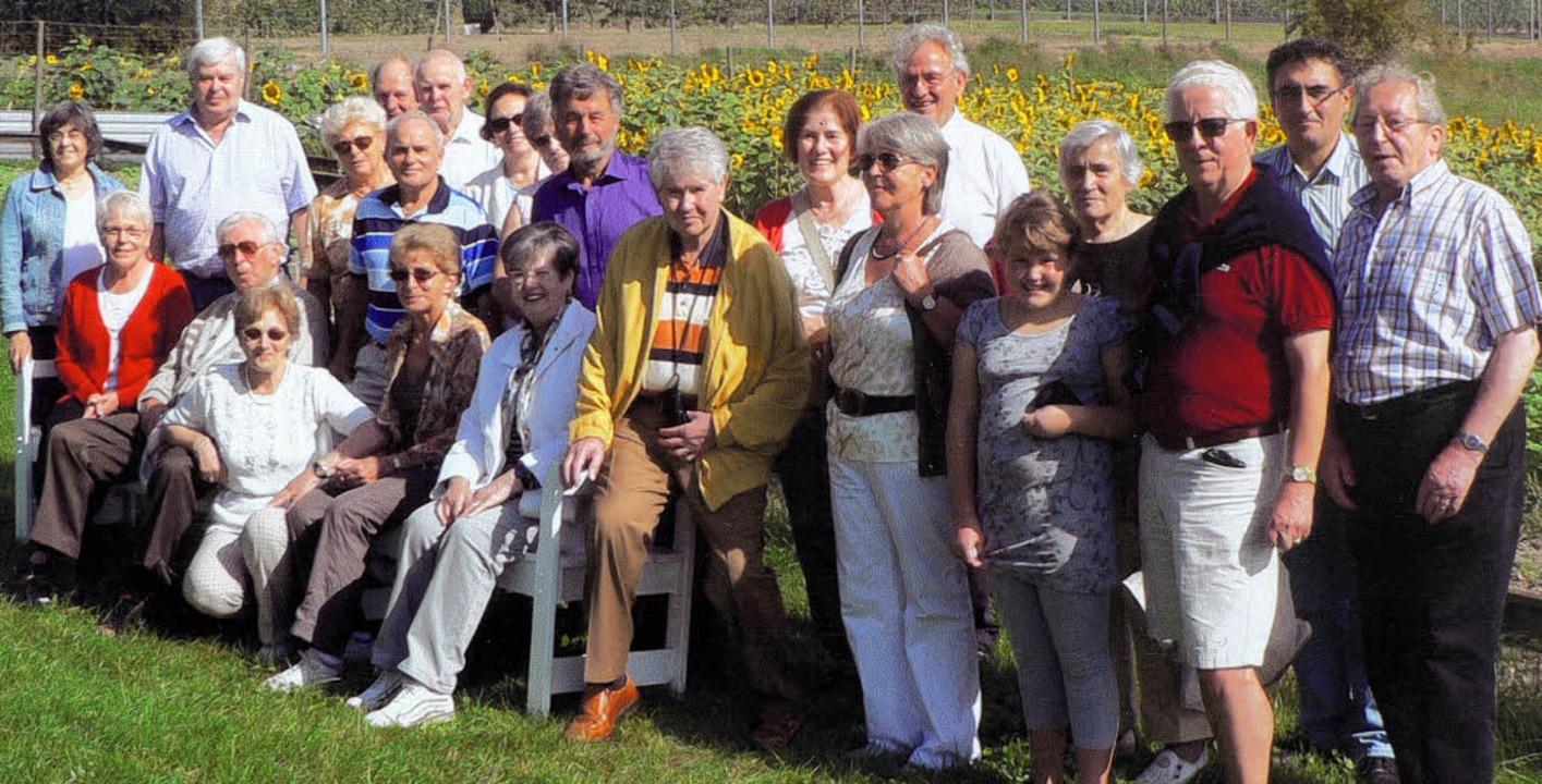 Zum Klassentreffen reiste der Jahrgang 1938 aus Bonndorf in die Pfalz.   | Foto: Privat