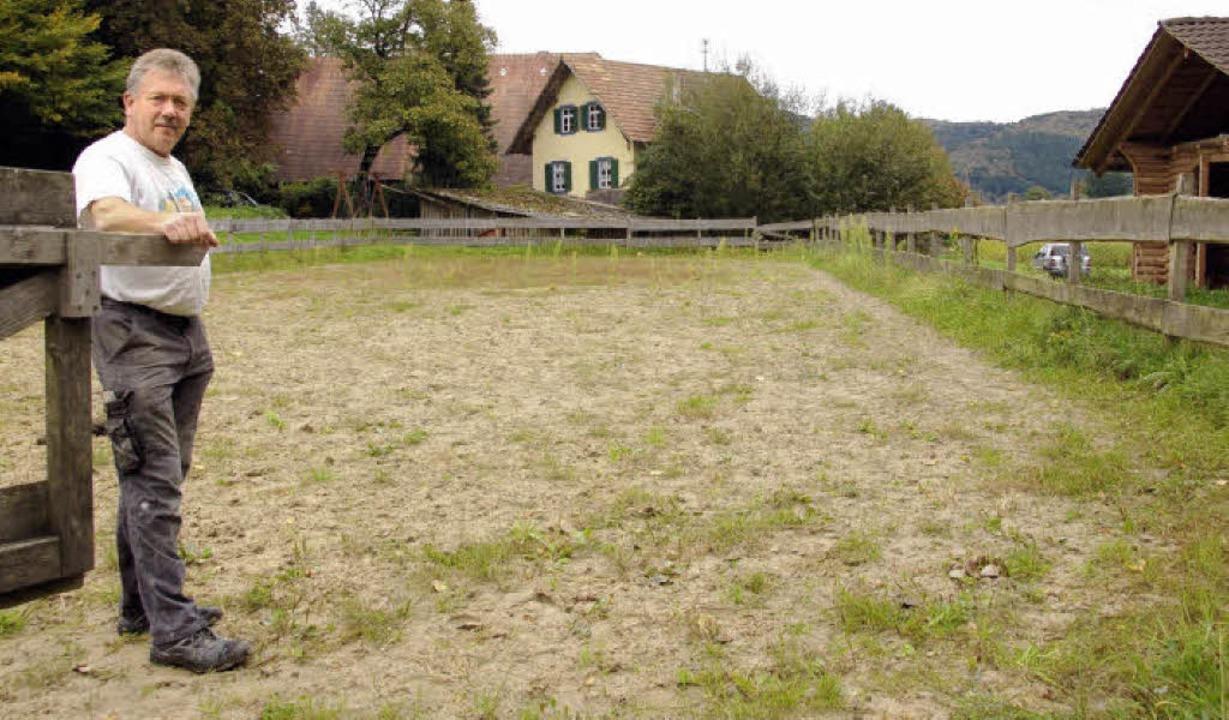 Robert Schwörer will den Tourismus mit...nen Reithalle im Omersbach ankurbeln.     Foto: W. Beck