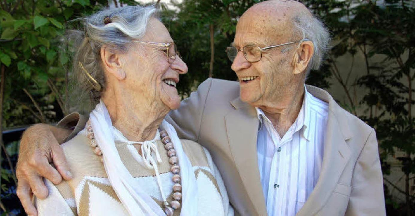 Ruth und Kurt Gebauer wurden heute vor 60 Jahren getraut.  | Foto: Umiger