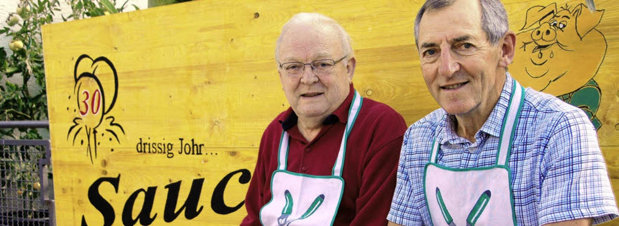 Sauclub-Vorsitzender Jupp Rehm und Rechner  Hans Grether (von links)   | Foto: Sigrid Umiger