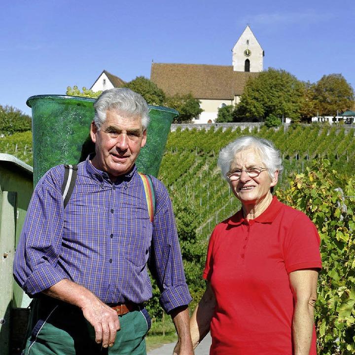 Dora und Willi Gempp in den Reben   | Foto: Gempp