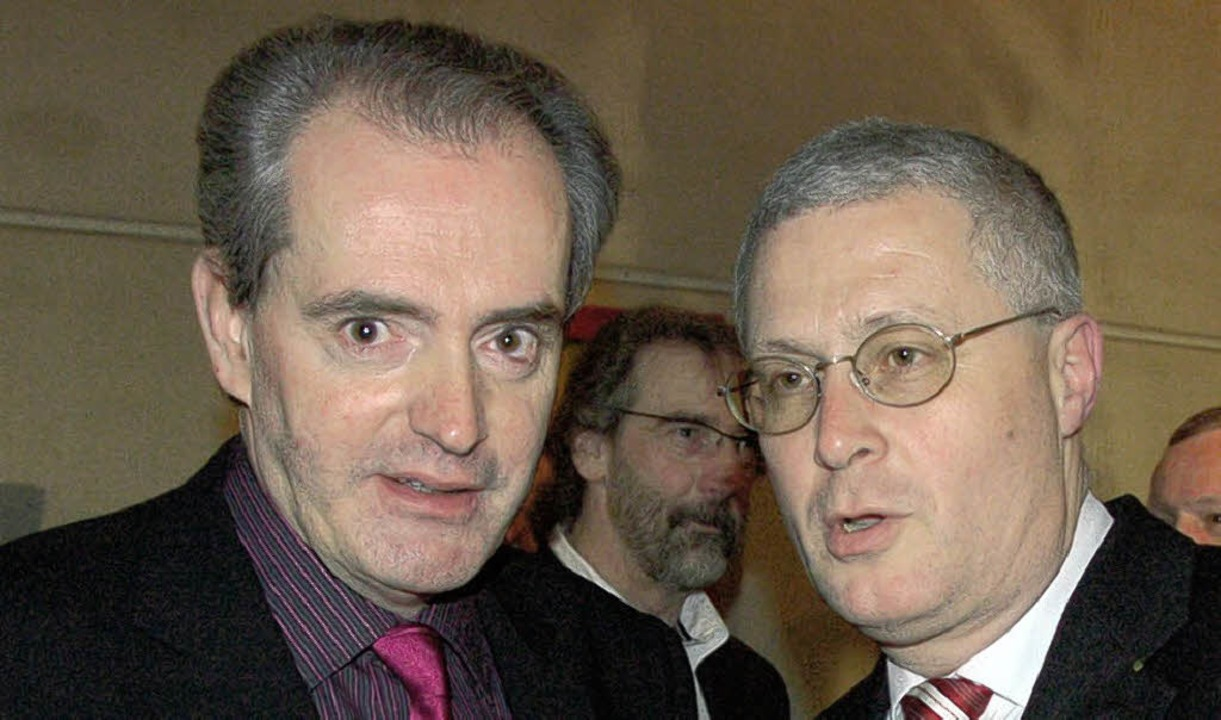 Gute Freunde: Jean-Marc Deichtmann und OB Wolfgang Dietz  | Foto: Jochen Fillisch