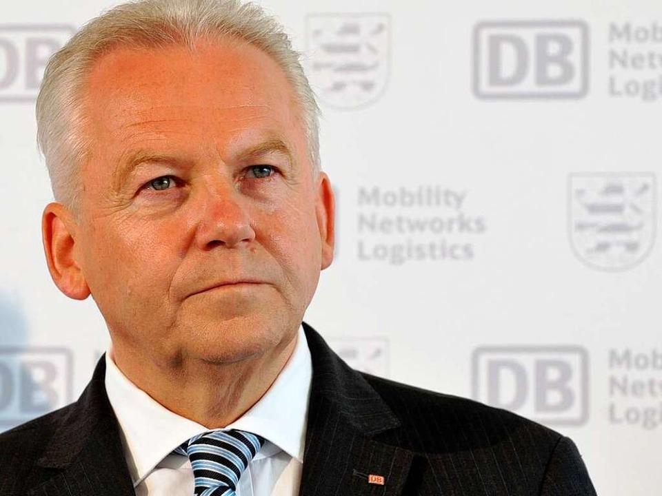 Rüdiger Grube, Bahnchef.  | Foto: dpa