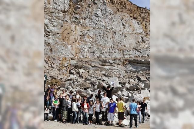 Junge Geologen erkunden die ganze Region