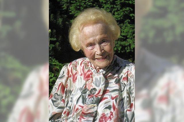 Clara Schwarz wird heute 100 Jahre alt