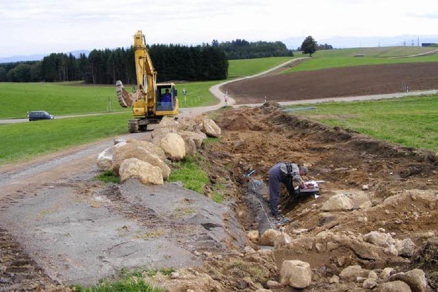 Neue Wasserleitung liegt in der Erde