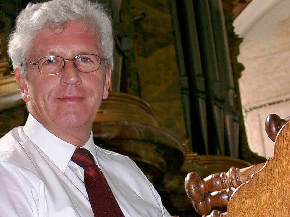Der Interpret: Freiburgs Domorganist  Klemens Schnorr    Foto: BZ