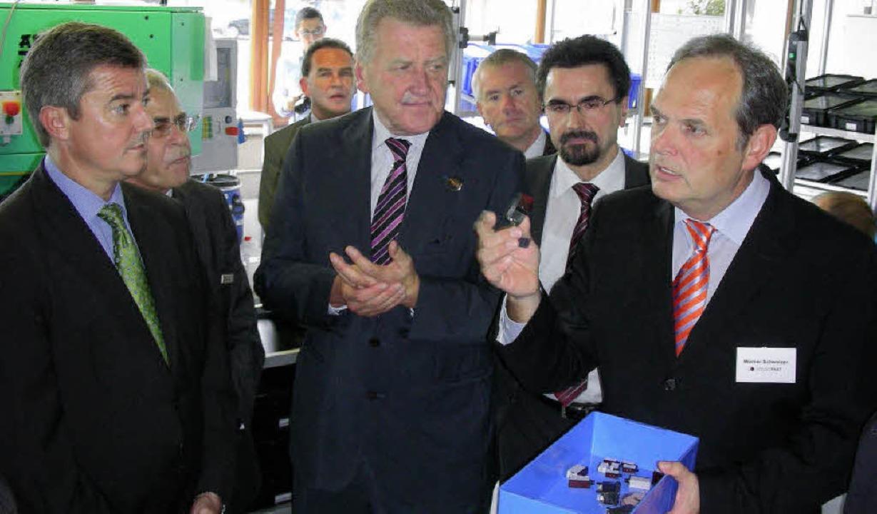 Neueste Sensortechnik ließ sich Wirtsc... neben ihm Firmenchef Theodor Wanner.   | Foto: mario schöneberg