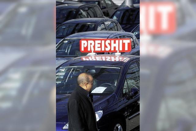 Rabattitis in den Autohäusern
