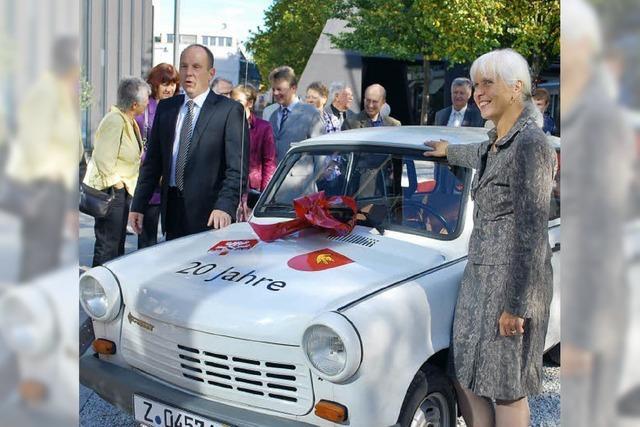 Neuer Dienstwagen für das Lörracher Rathaus - ein Trabbi