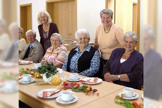Wenn Frauen Senioren laden