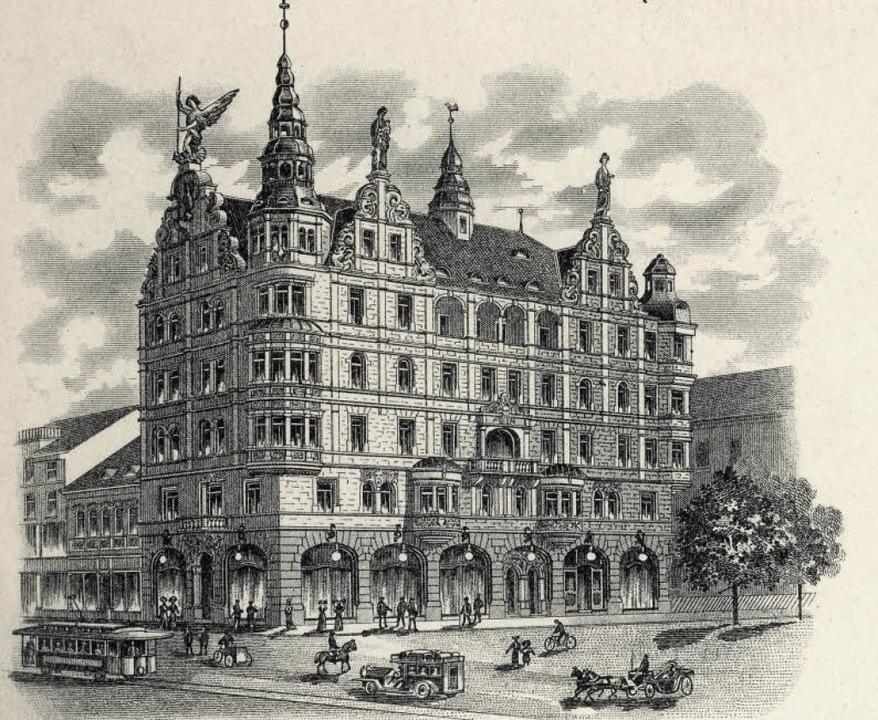 Die historische Lithographie der Lahre...d daneben zeigt den heutigen Zustand.   | Foto: Archiv Gallo / Michael Bamberger