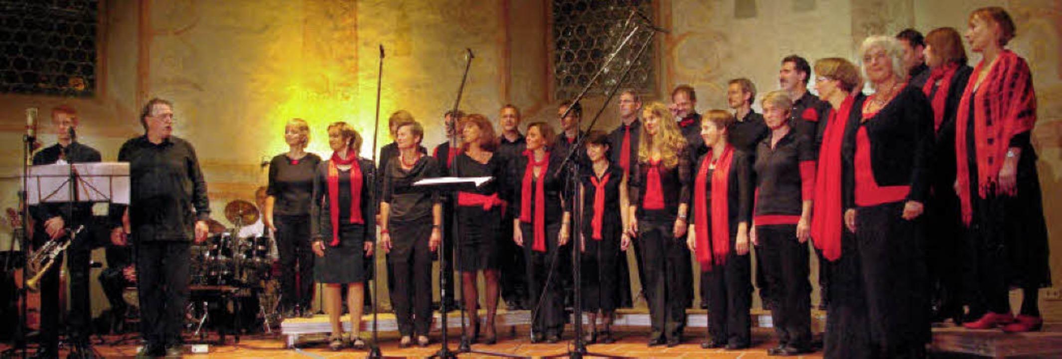 Mit Freude am Gesang, guter Technik un...m Jubiläumskonzert Standing Ovations.   | Foto: Model