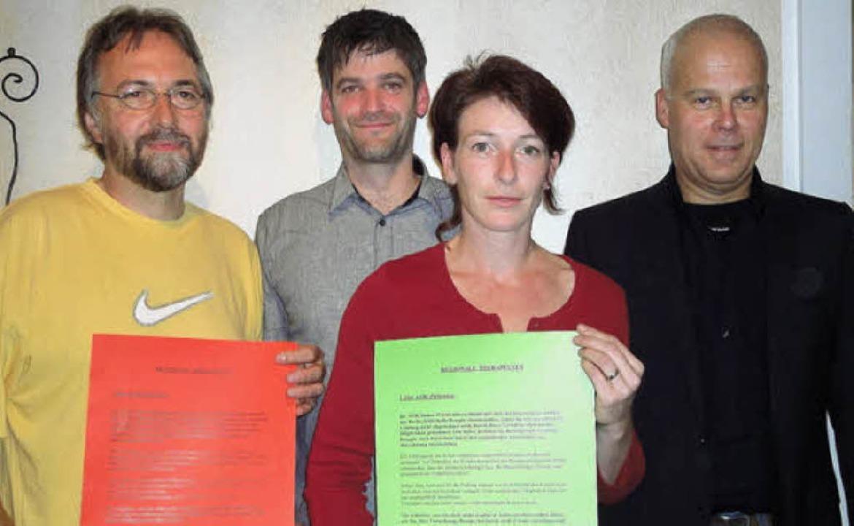 Bernd Heusler, Björn Kronski, Birgit K..., die demnächst in den Praxen hängen.   | Foto: Silke Hartenstein