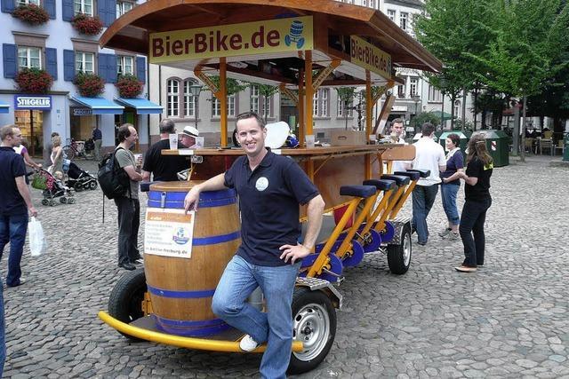 Keine Spaßbremse für das Bierbike in Freiburg
